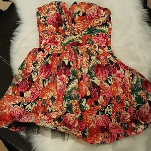 Sleeveles Floral Party/Cocktail  Dress
